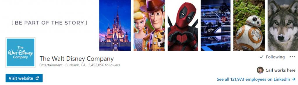Disney linkedin profile