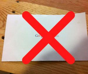 google my business postcard
