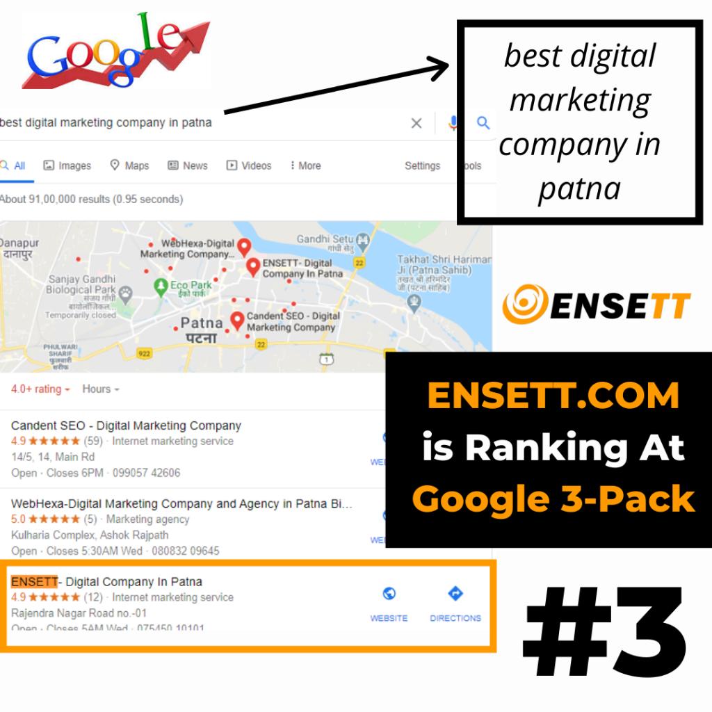 best digital marketing company in patna- ENSETT